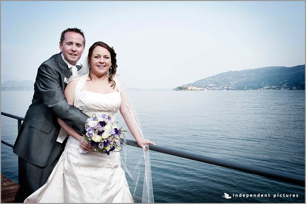 lilac purple bridal bouquet Lake Maggiore florist Baveno