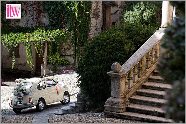 Fiat 500 wedding here in Italy