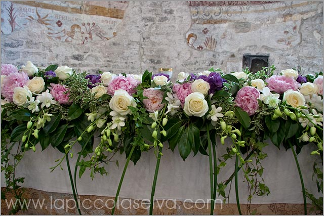 flower arrangements church of San Remigio Lake Maggiore