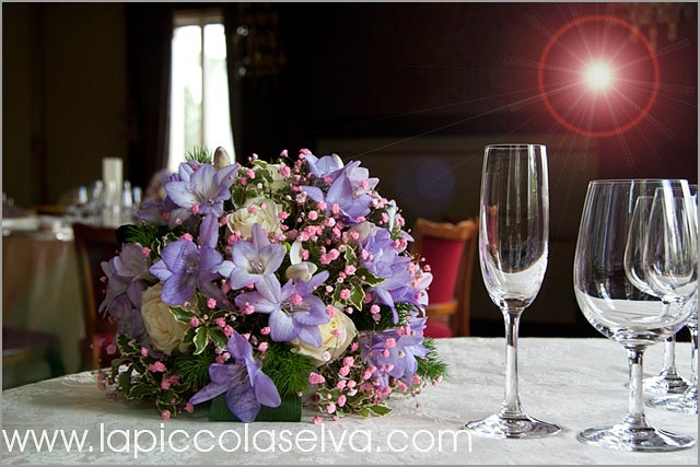 centerpieces for weddings at Hotel Majestic by Lake Maggiore florist