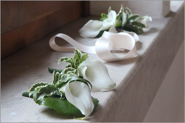 wedding flowers decorations with Callas