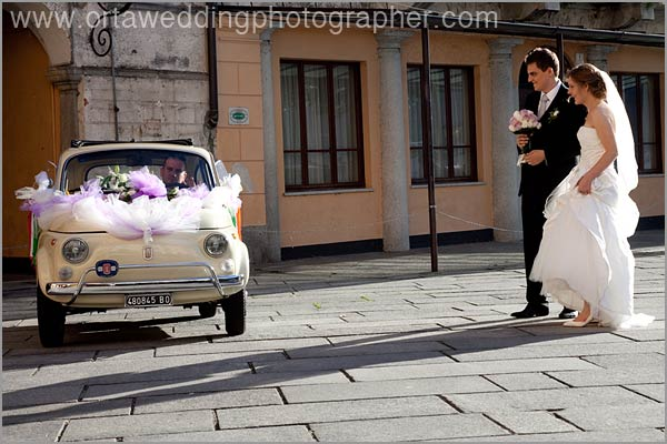 italian Fiat 500 wedding car hire