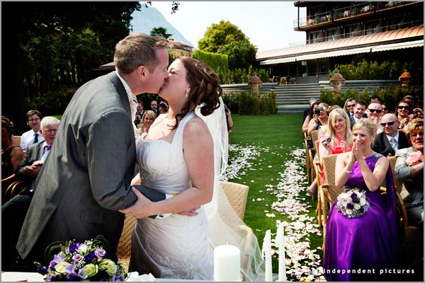 open air wedding ceremony Hotel Dino lake Maggiore