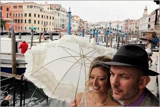 Venetian gondolas wedding