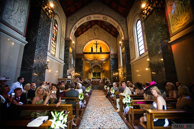 wedding ceremony at Ascensione church Cadenabbia lake Como