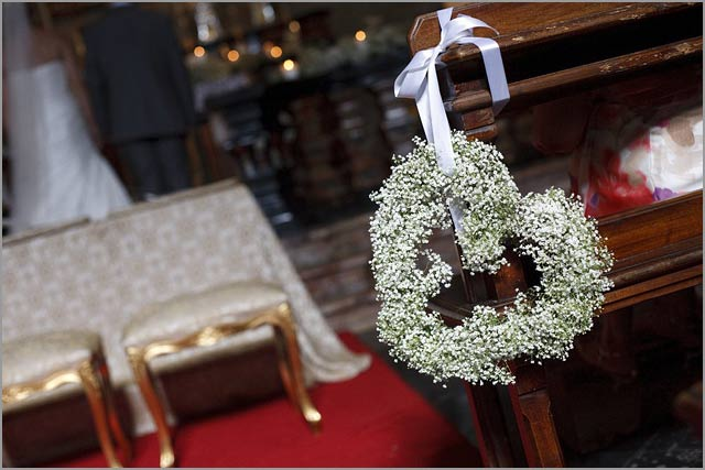 Flowers and decorations at the ceremony venue