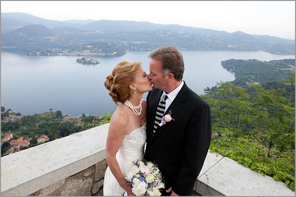 getting married outside on a rock overlooking an undiscovered spot of Italy