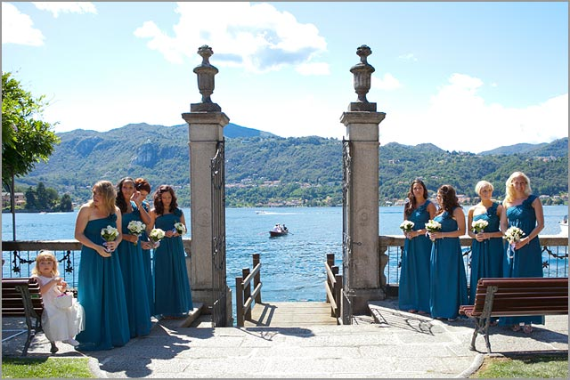 green bridesmaid dresses in Italy