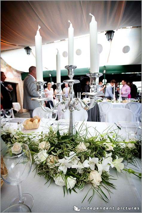 wedding centerpieces with candelabras