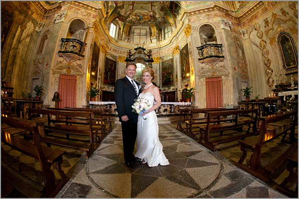 wedding to Madonna del Sasso church Lake Orta Italy