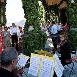 A String Quartet to Lake Como Beach Club
