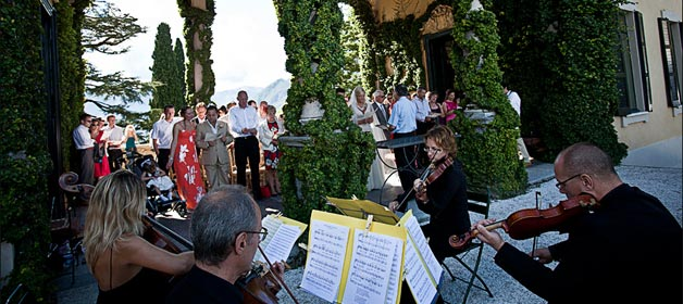 A String Quartet to Lake Como Beach Club