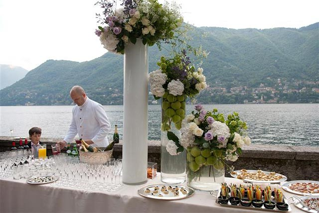 catering Villa Cernobbio wedding