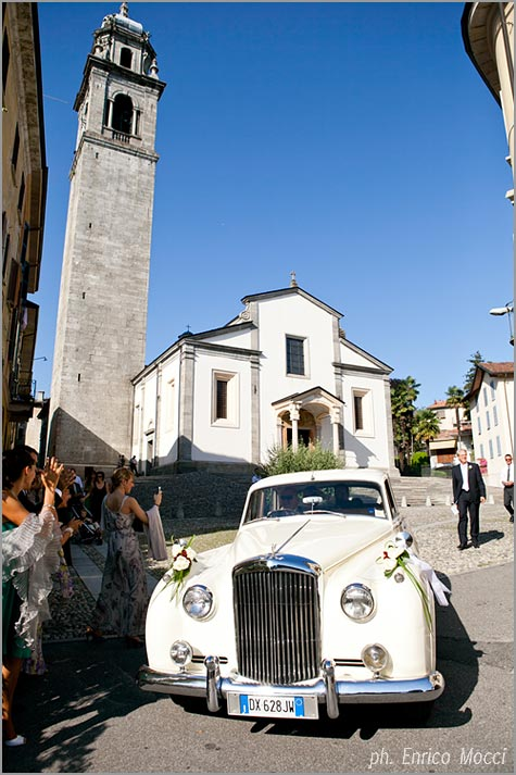 wedding florist in San Leonardo Church Pallanza Lake Maggiore