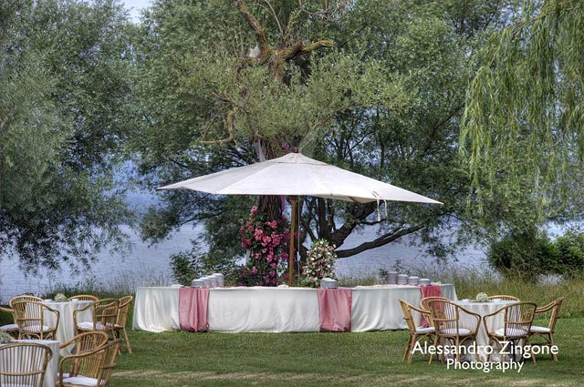wedding reception venue on Lake Bracciano countryside