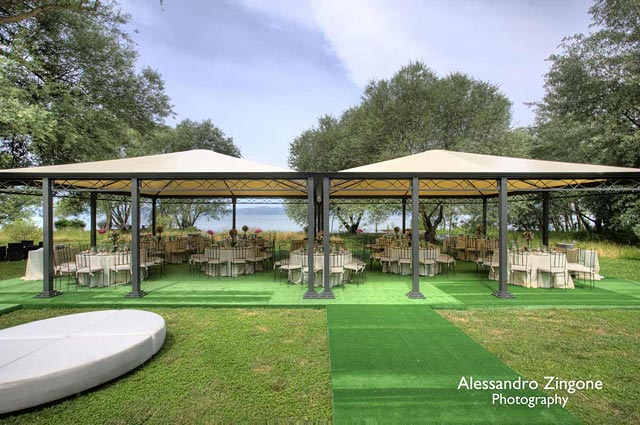 wedding reception venue on Lake Bracciano
