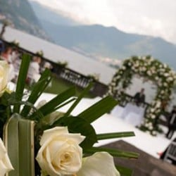 A famous guest for a very special day on lake Como