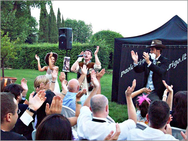 wedding deejay showman on Italian Lakes