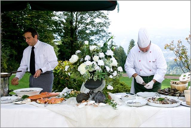 wedding catering in Castello dal Pozzo lake Maggiore Italy