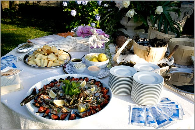 wedding catering to Villa Rusconi lake Maggiore Italy