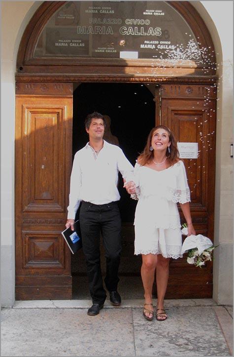 civil wedding ceremony in Sirmione