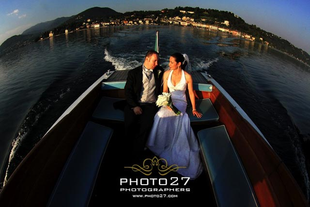 lake Orta wedding boat services