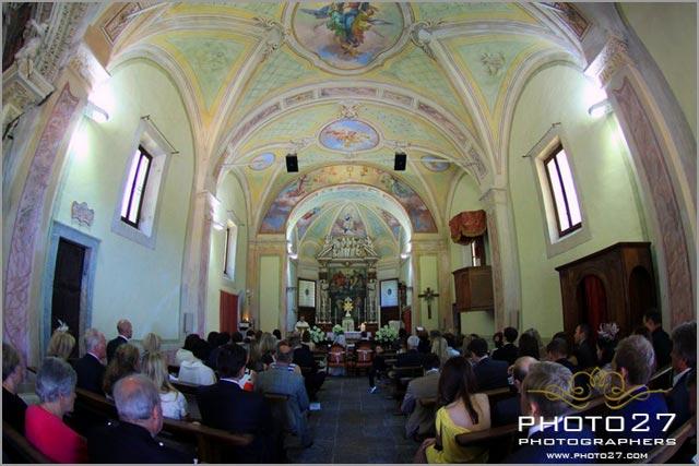 religious ceremony to Sacro monte Ghiffa church