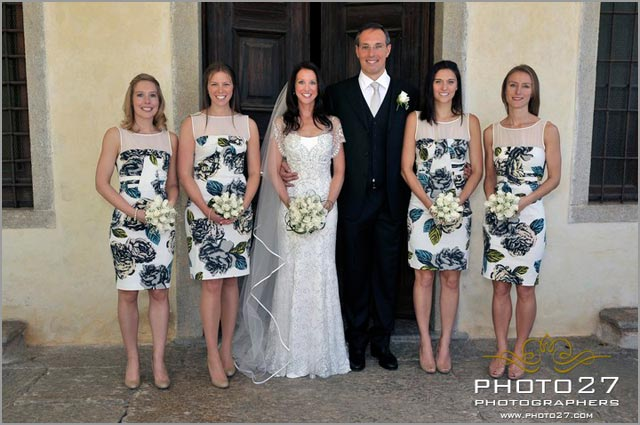 bridesmaids bouquet in Verbania lake Maggiore