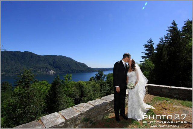 romantic religious ceremony overlooking lake Maggiore