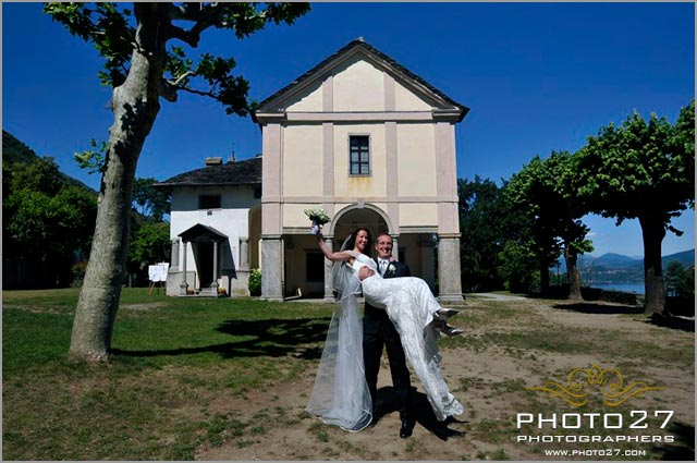 wedding to Sacro Monte Church Ghiffa lake Maggiore