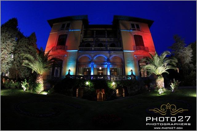 wedding light designer in villa Rusconi Italy