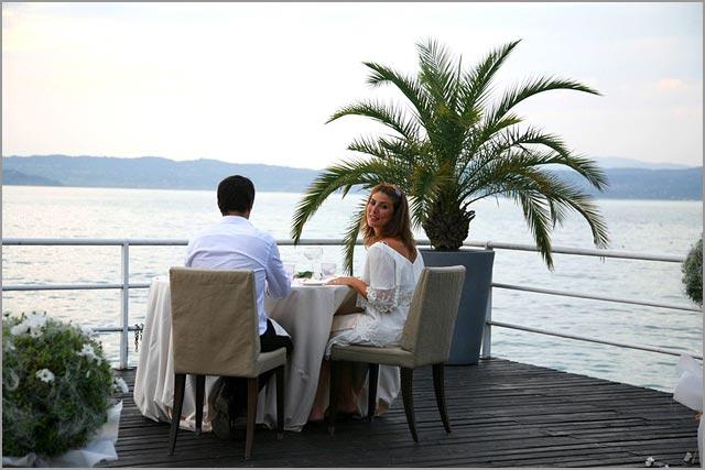 wedding restaurant in Sirmione with terrace on lake Garda