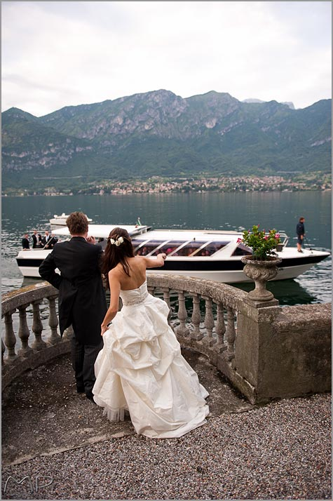 ceremony in Villa Balbianello, wedding reception in Bellagio
