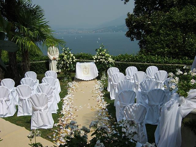 blessing ceremony in Villa Margherita lake Maggiore