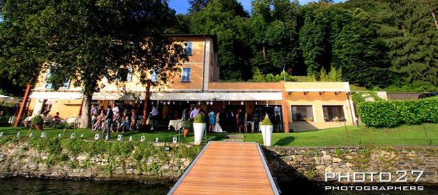 A magic venue for a wedding on Orta Lake Shores