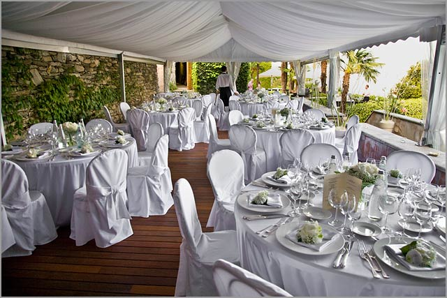 wedding dinner in Villa Margherita lake Maggiore