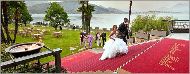 outdoor ceremony to Grand Hotel Dino Baveno