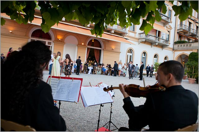 wedding string quartet in villa d'este lake Como