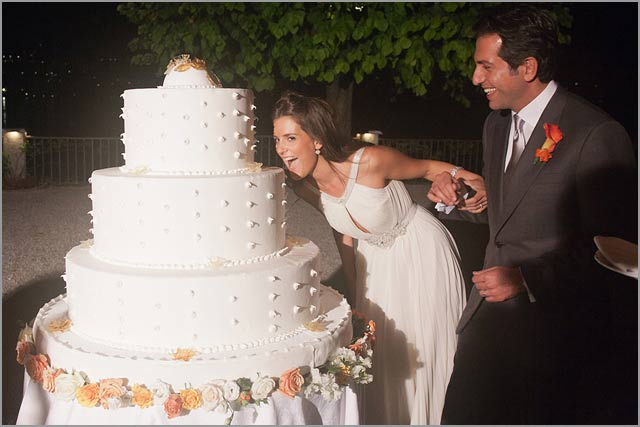 wedding cake in villa d'este lake Como
