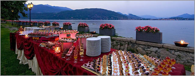 outdoor wedding party to Grand Hotel Dino Baveno