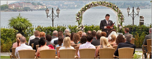 wedding ceremony to Grand Hotel Dino Baveno Lake Maggiore