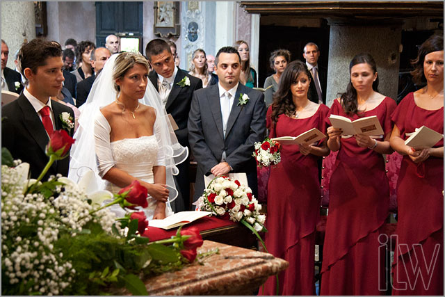wedding ceremony to church of Assunta lake Orta