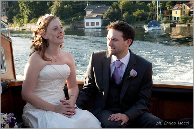 wedding boat tour on Lake Orta