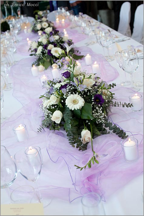 purple wedding tables decorations