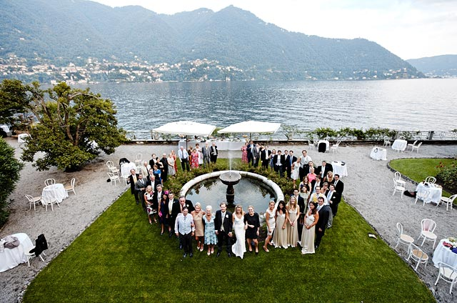lakeshore villa for wedding on Lake Como