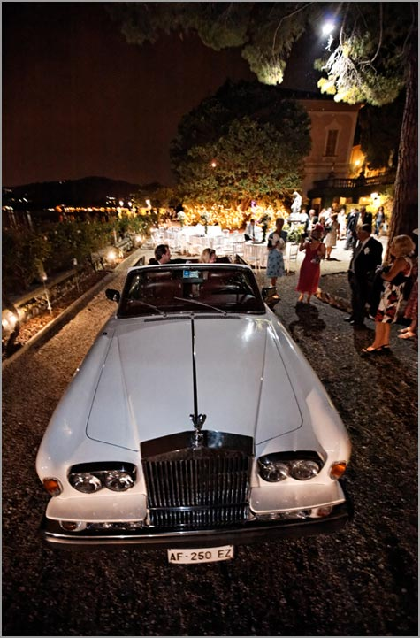 Rolls Royce rental for wedding on Lake Como