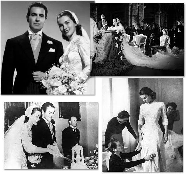 Linda Christian and Tyron Power wedding in Rome
