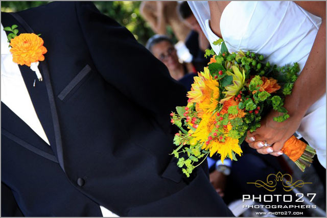yellow & green bridal bouquet in Cernobbio