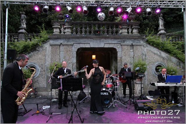 outdoor wedding reception on lake Como