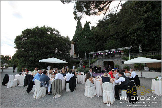 wedding reception on lake Como